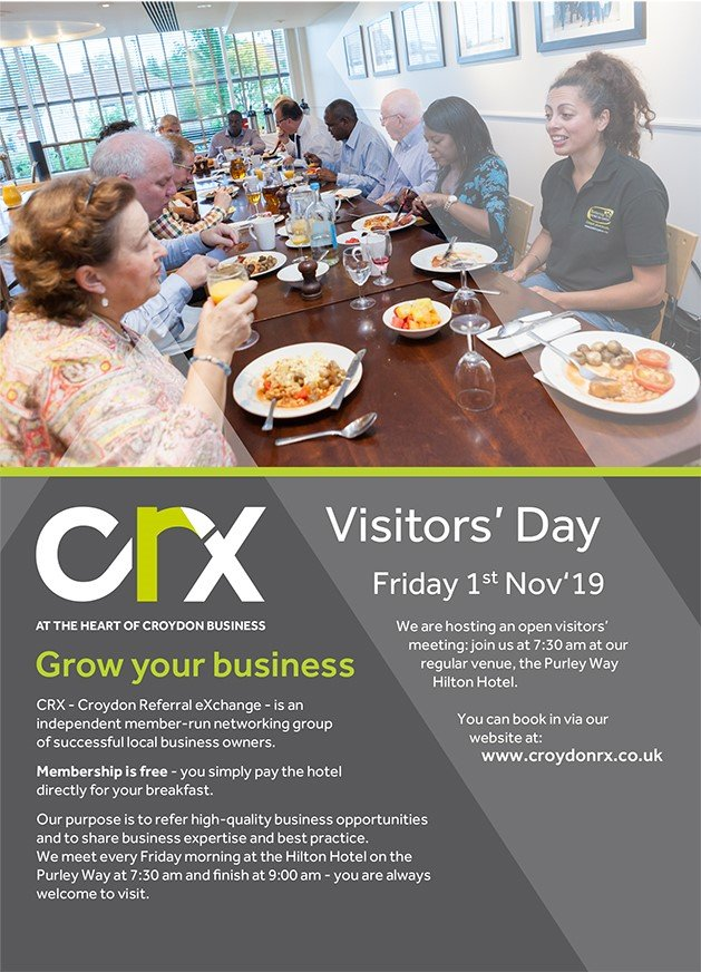 leaflet for CRX visitors day 1 Nov 2019